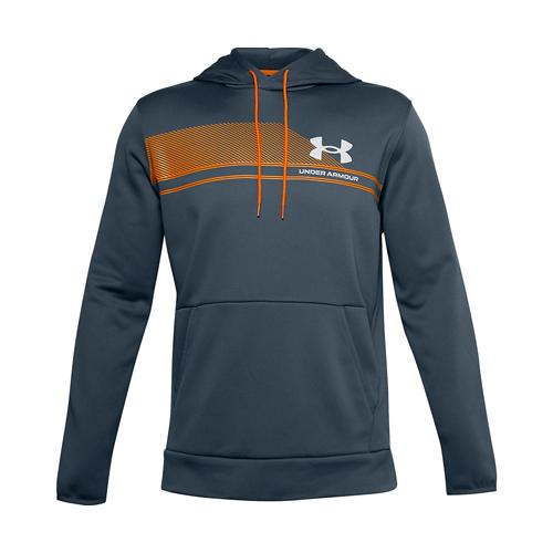 Men's Armour Fleece Plus SP Graphic Hoodie, Green Blue, Teal, swatch