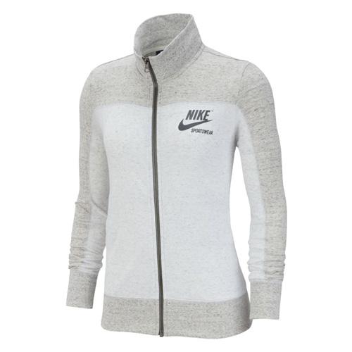 Women's Sportswear Gym Vintage Full Zip Hoodie, Heather Gray, swatch