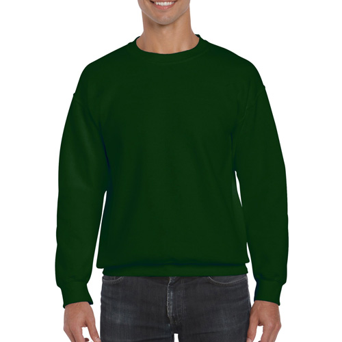 Men's Extended Size DryBlend Crewneck Sweatshirt, Dkgreen,Moss,Olive,Forest, swatch