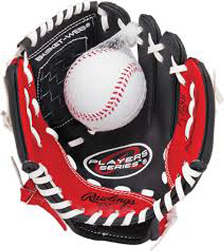 "Youth 9"" Players Series Glove with Baseball, Red, swatch"