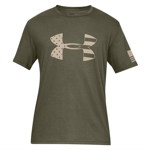 Men's Freedom Tonal Big Flag Tee, Dkgreen,Moss,Olive,Forest, swatch
