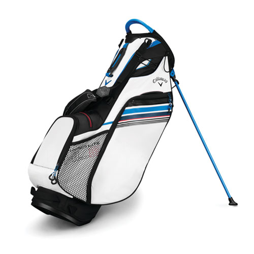 Hyper-Lite 3 Golf Stand Bag, Black Pattern/White, swatch