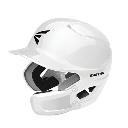 Alpha Batting Helmet with Universal Jaw Guard, White, swatch