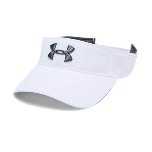 Men's Core Golf Visor, White/Gray, swatch