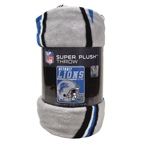 Detroit Lions Micro Raschel Throw Blanket, , large