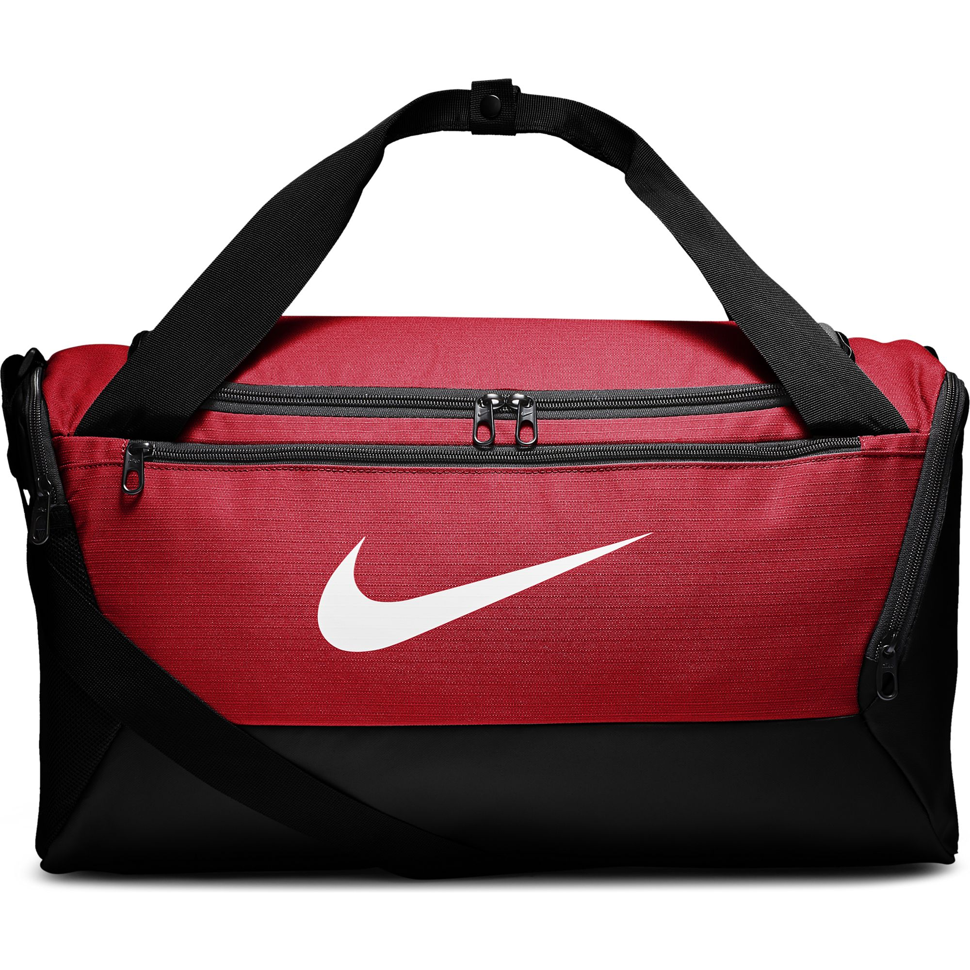 Brasilia Small Training Duffell Bag, Red/Black, swatch