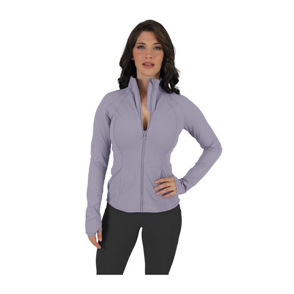 Women's Flared Bottom Active Jacket, Blue, swatch