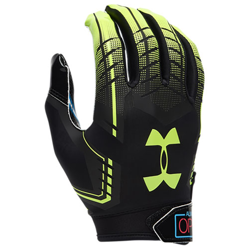 Adult F6 Football Gloves, Yellow/Black, swatch