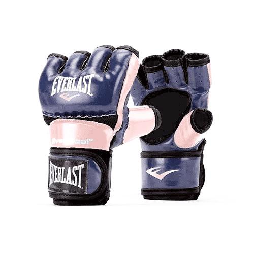 Women's Everstrike Training Gloves, Pink/Blue, swatch