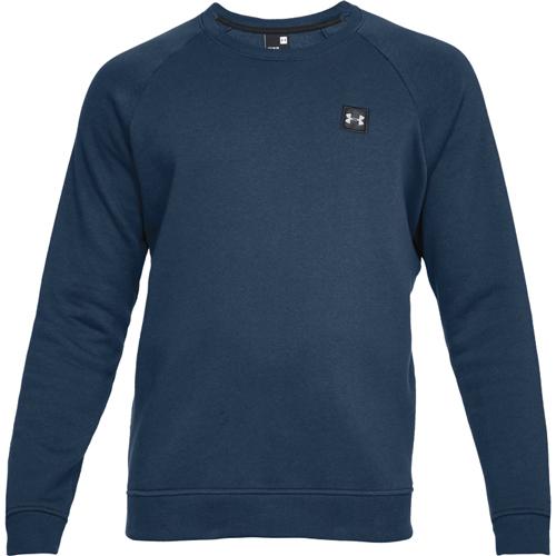Men's Rival Long Sleeve Fleece Sweatshirt, Navy, swatch