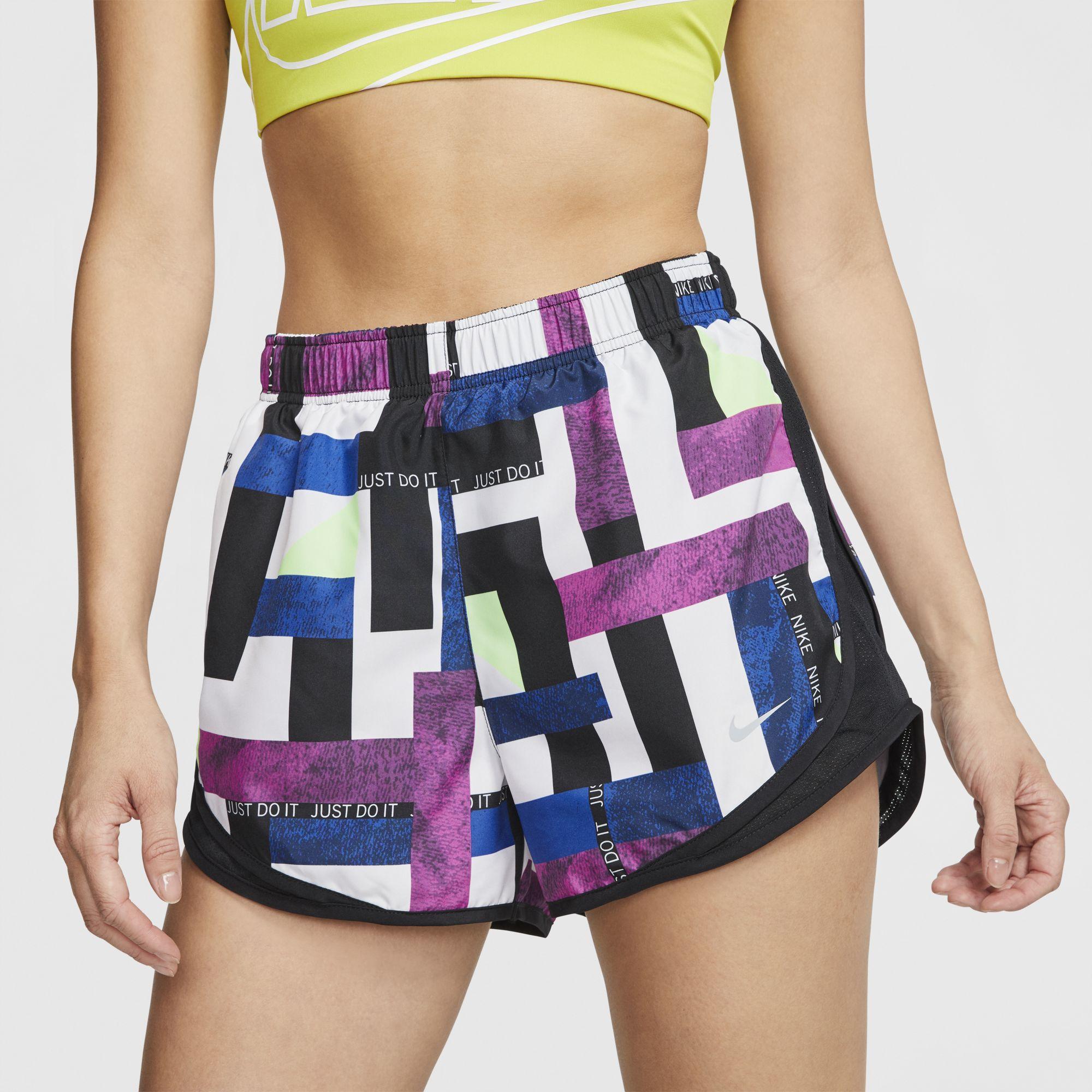 Women's Geometric Print Tempo Shorts, Pink, swatch