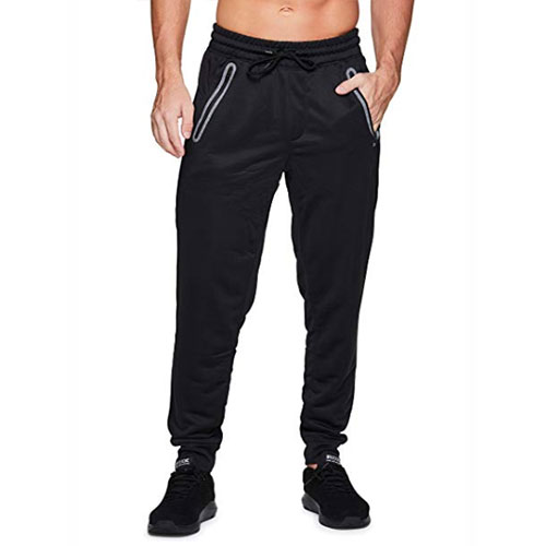 Men's French Terry Jogger, Black, swatch