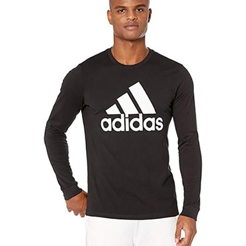 Men's Badge Of Sport Long Sleeve T-Shirt, Black, swatch