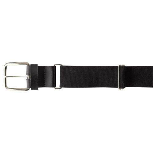 "Youth 1.25"" Leather Baseball Belt, Black, swatch"