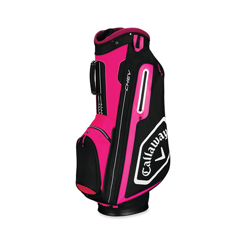 Chev Cart Golf Bag, Pink/White, swatch