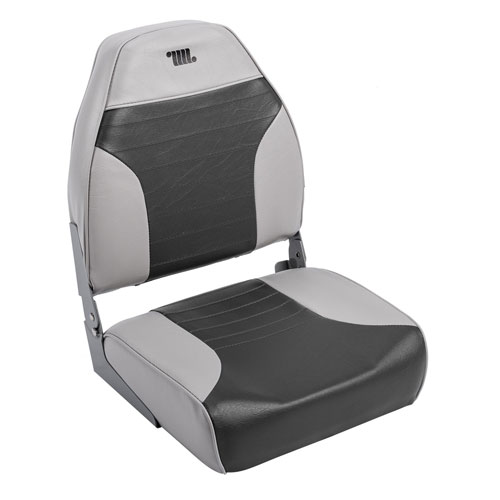 Mid Back Boat Seat, Charcoal/Heather, swatch
