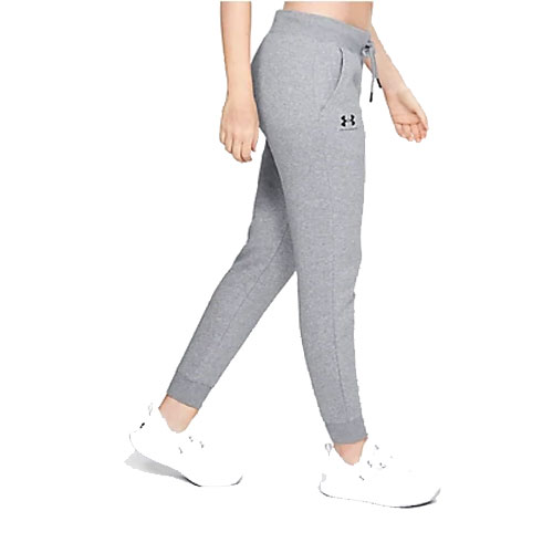 Women's Rival Fleece Sportstyle Graphic Pants, Heather Gray, swatch