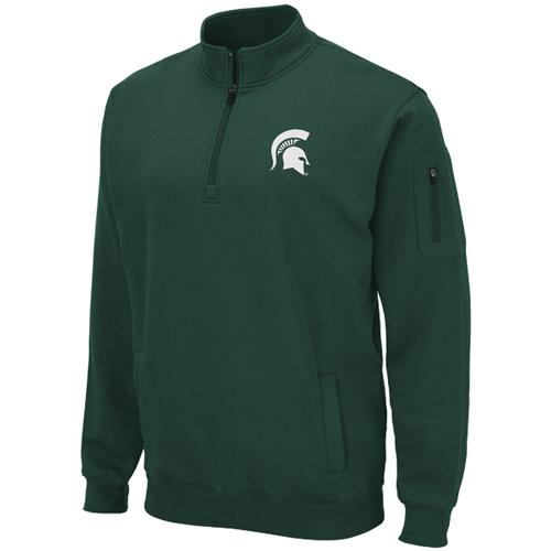 Men's Michigan State 1/4 Zip Fleece, Team, swatch