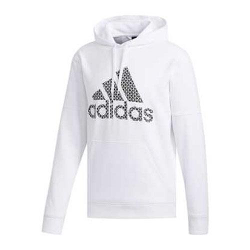 Men's Team Issue Fleece Logo Hoodie, White, swatch