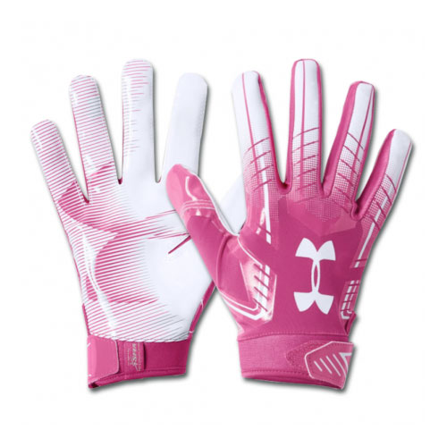 Adult F6 Football Gloves, Pink/White, swatch