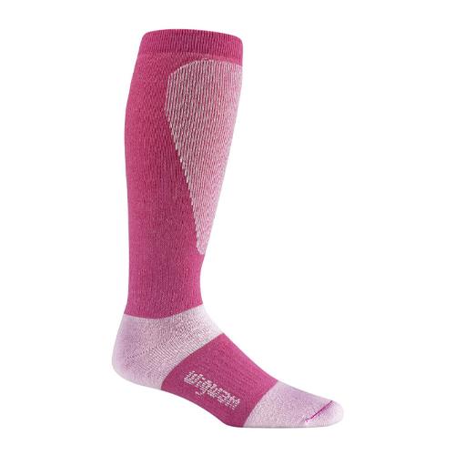Men's Snow Sirocco Knee-High Performance Wool Ski Socks, Rose, swatch