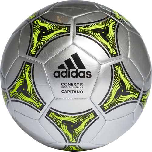 Conext 19 Glider Soccer Ball, Silver/Yellow, swatch