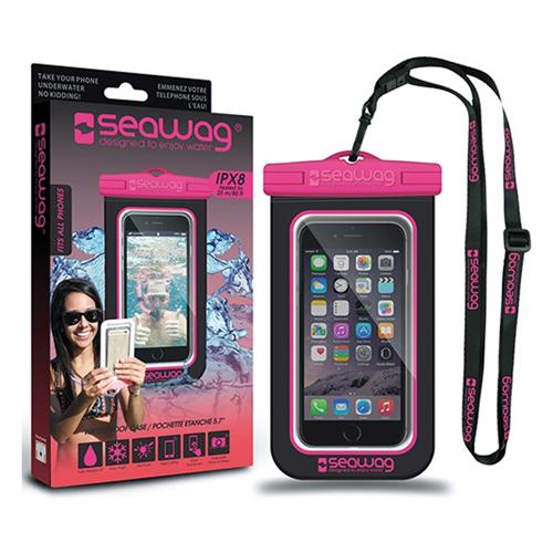 Waterproof Smartphone Case, Black/Pink, swatch